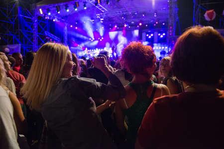 people having fun on concert