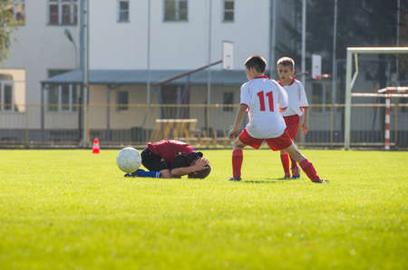 sport injury: foul in football match