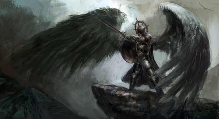teufel und engel: toten Ritter oder gefallene Engel