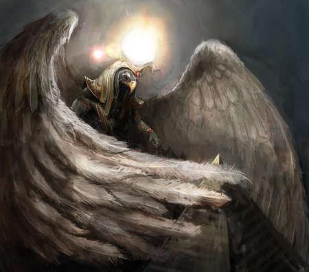 horus: mitad águila mitad hombre Amon Ra