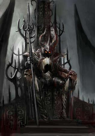 troon van de donkere koning Stockfoto