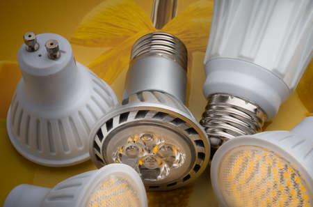 lighting equipment: LED bulbs photographed in studio