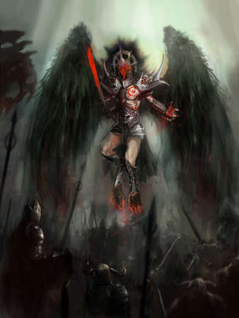 angel of death on battlefield