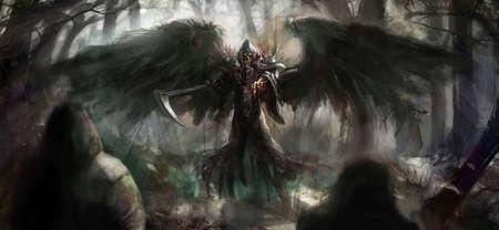 muerte: parca en el bosque