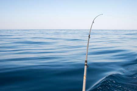 fishing rod: a fishing rod on sea