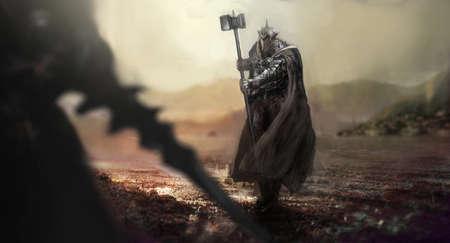 cavaliere medievale: evi cavaliere contro cavaliere buono