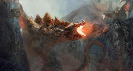 Dragón para luchar contra el dragón Foto de archivo
