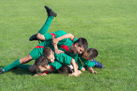 recreational pursuits: victory on Kids football match