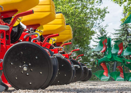 agricultural engineering: Agricultural machinery in agricultural fair Stock Photo