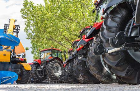 agricultural machinery: Agricultural machinery in agricultural fair Stock Photo