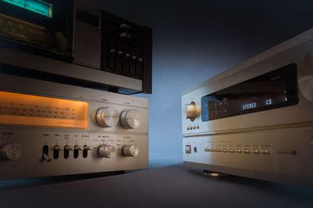 hifi: Hi-Fi receivers in studio shot