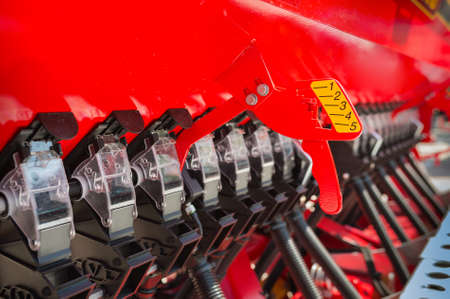 agribusiness: Agricultural machinery in agricultural fair Stock Photo