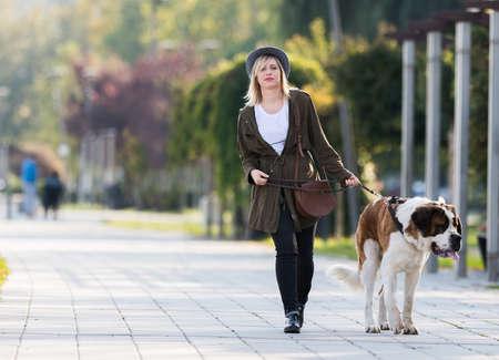saints: Girl and her big dog