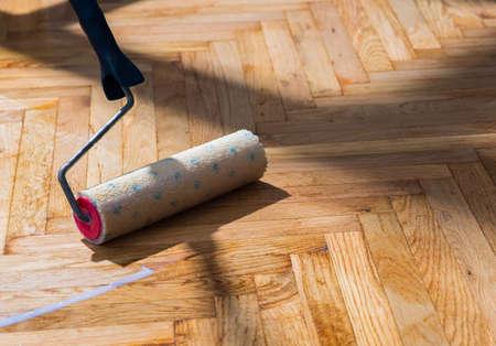 Roller für Boden-Lack Standard-Bild