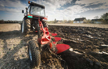 Tractor preparing land for sowings