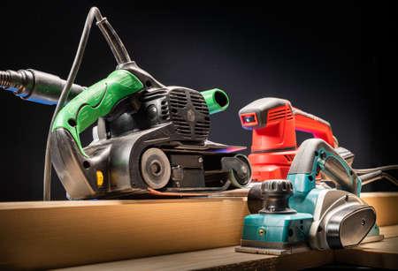 Electric tool.Electric sandpaper,belt sander,electric sander. Banque d'images - 136120320