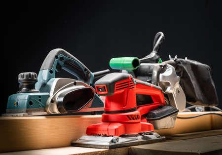 Electric tool.Electric sandpaper,belt sander,electric sander. Banque d'images - 135397875