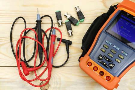 herramientas de trabajo: Probador de CCTV Foto de archivo