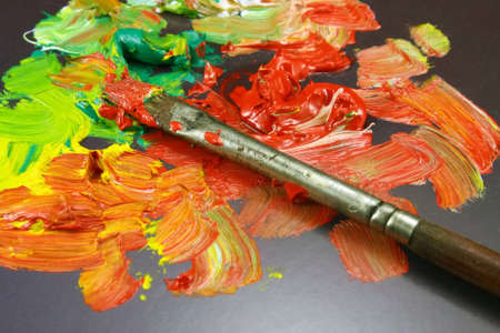 paintbox: Water color paints for drawing Stock Photo