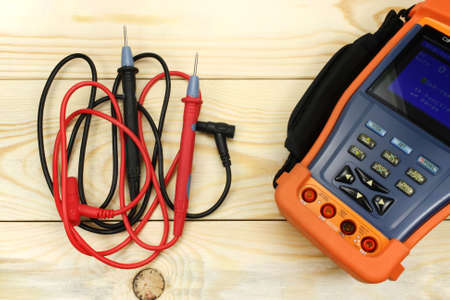 impedance: Digital multimeter Stock Photo