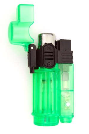 lighter: Green lighter Stock Photo