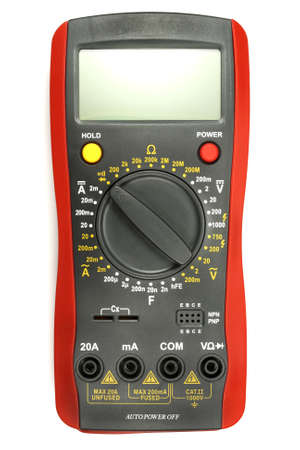 Digital multimeter isolated on the white background