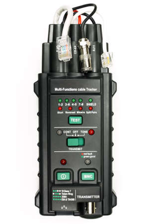 rx: Multifunction cable tester isolated on the white background