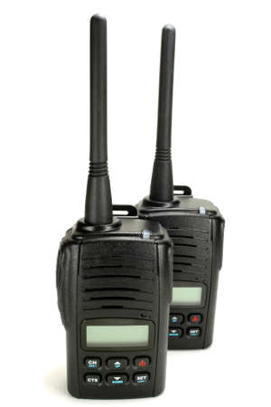 Portable walkie-talkie isolated on a white background