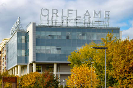 visage: MOSCOW, RUSSIA - October 10, 2017: Main office building of the Swedish company Oriflame in Moscow