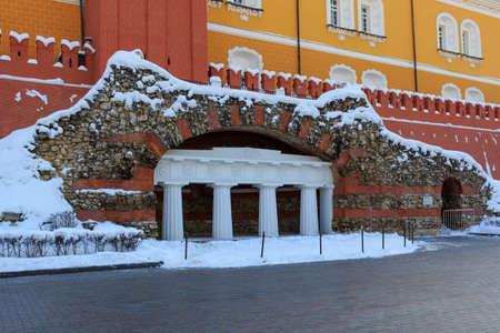Ruins grotto in Alexandrovsky garden in Moscow