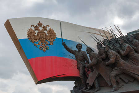 Moscow, Russia - March 22, 2018: Monument to the Heroes of the First world war on Poklonnaya Hill