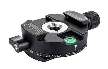 360 degree panoramic tripod head isolated on white background. Panoramic shooting equipment