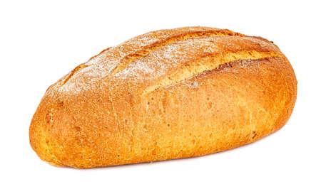 Loaf of freshly baked rye bread isolated on white background Standard-Bild