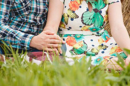 mooie vrouwen: Concept shoot van vriendschap en liefde van man en vrouw Stockfoto
