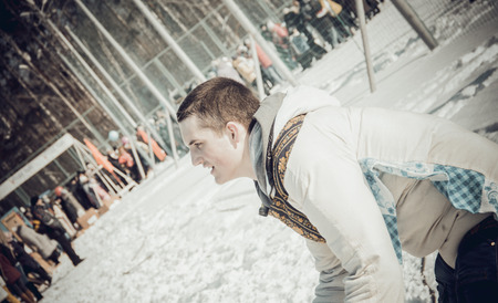 maslenitsa: Shrovetide - the celebration and folk festival, Russia. Maslenitsa or Pancake Week is the ancient Slavic Holiday. Editorial