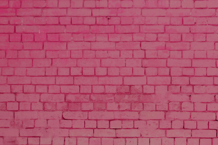 solid: Pink bricks wall background texture, solid, facade Stock Photo