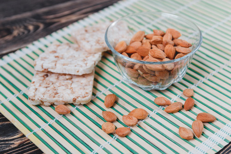 kernel: Dried Apricot Pits Kernel. Healthy Food Concept