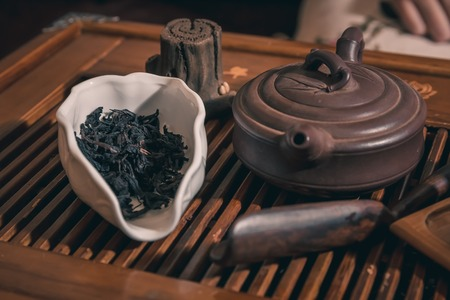 performed: Chinese tea ceremony is performed by tea master