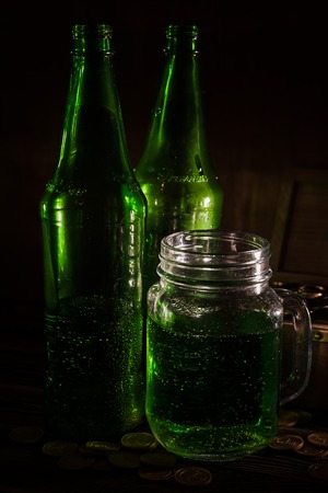 St Patricks day green beer Stock Photo