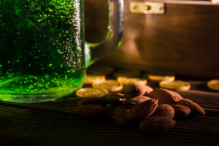St Patricks day green beer nuts