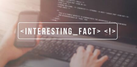 Interesting fact searching concept. Cross platform application. Banner. Stock Photo