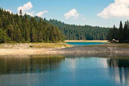 Beautiful landscape  Black lake  National park Durmitor, Montenegro