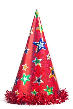 birthday hat: Shiny party haton white background