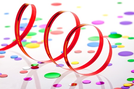 Party decoration on white background Stock Photo