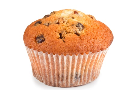 Muffin with raisins for breakfast