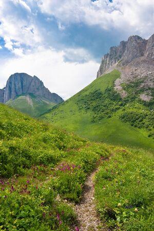 Beautiful mountain landscape in the Caucasus