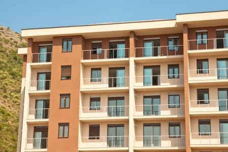 Modern bouwblok huis Stockfoto