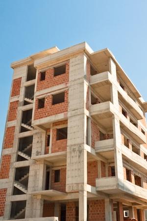 Construction of modern urban brick house