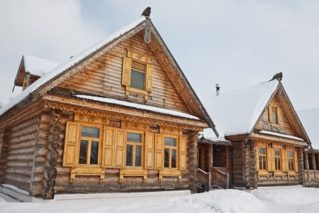 dacha: Street of the old wooden houses in Russia