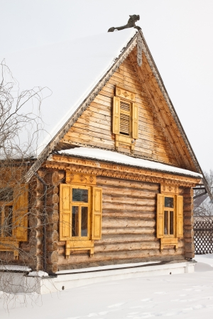The old wooden house in Russia photo